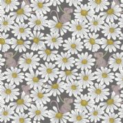 Lewis & Irene - Love Me Love Me Not - 5844 - Mice & Dasies on Dark Grey - A271.3 - Cotton Fabric